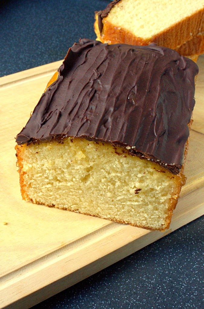 Jaffa Loaf Cake - soft vanilla sponge with Seville marmalade and dark chocolate