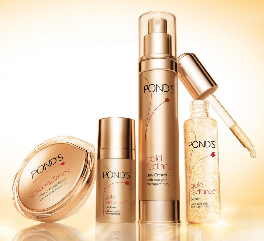Cosmatics ponds gold radiance products for Ponds products