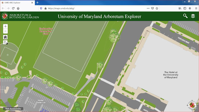 Image and Link to the Interactive Campus Map Showing the Campus Plant Inventory