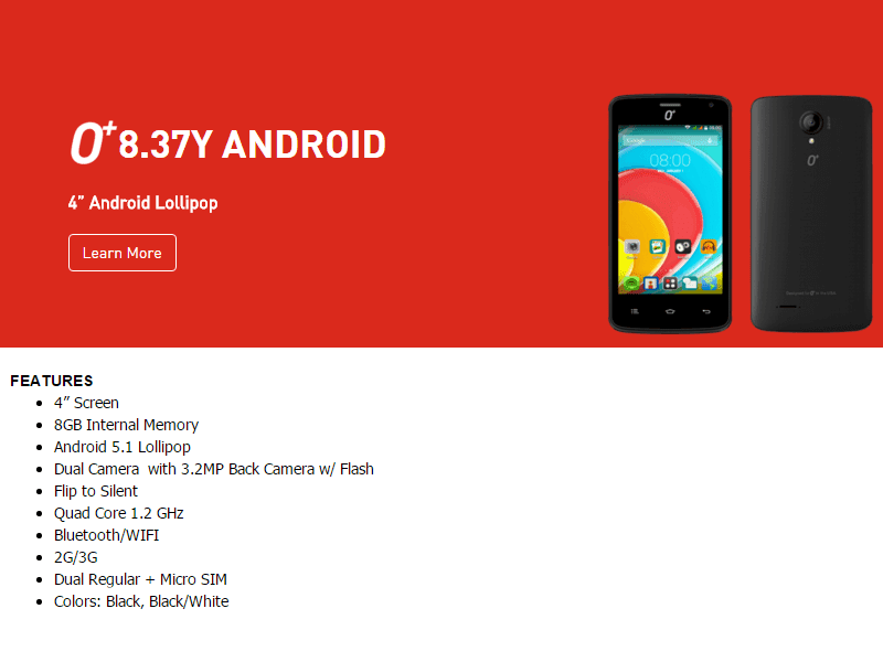 O+ 8.37y Spotted! A Budget Android 5.1 Lollipop Phone?