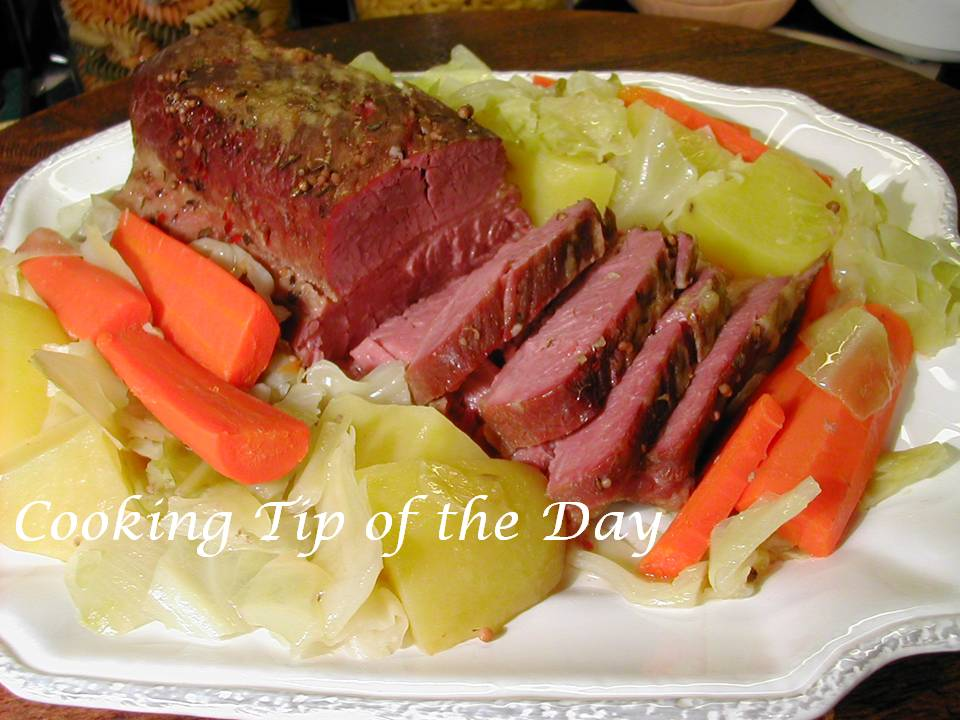 Cooking Tip of the Day: Recipe: Crock Pot Corned Beef and Cabbage
