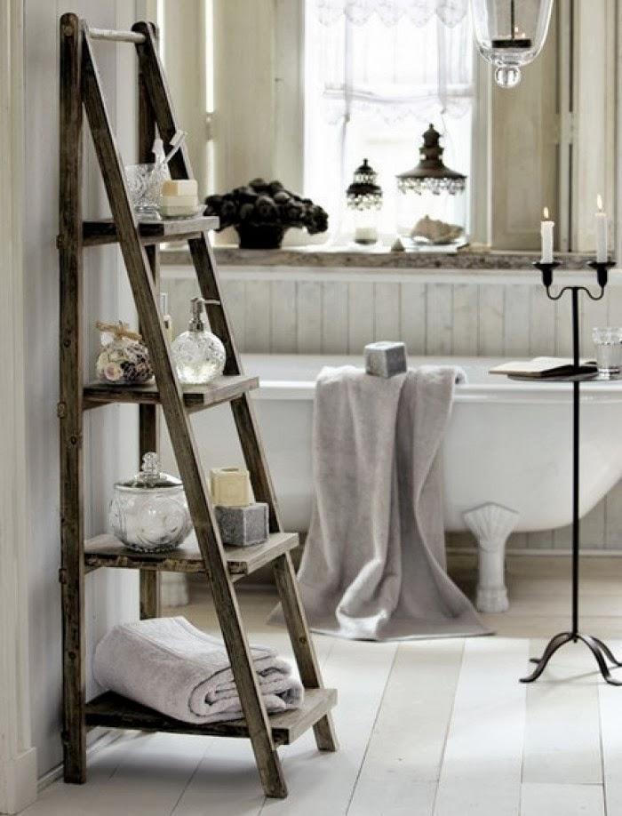استخدام السلالم كرفوف