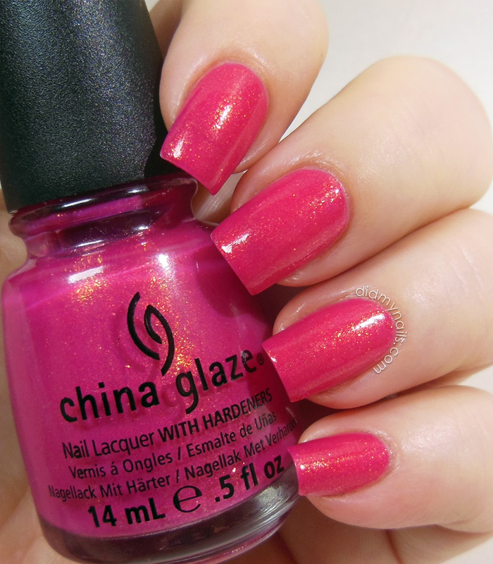 China Glaze Strawberry Fields swatch