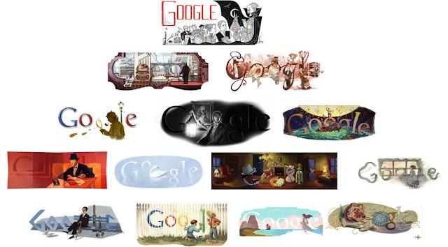 Doodles dedicados a escritores y a sus obras