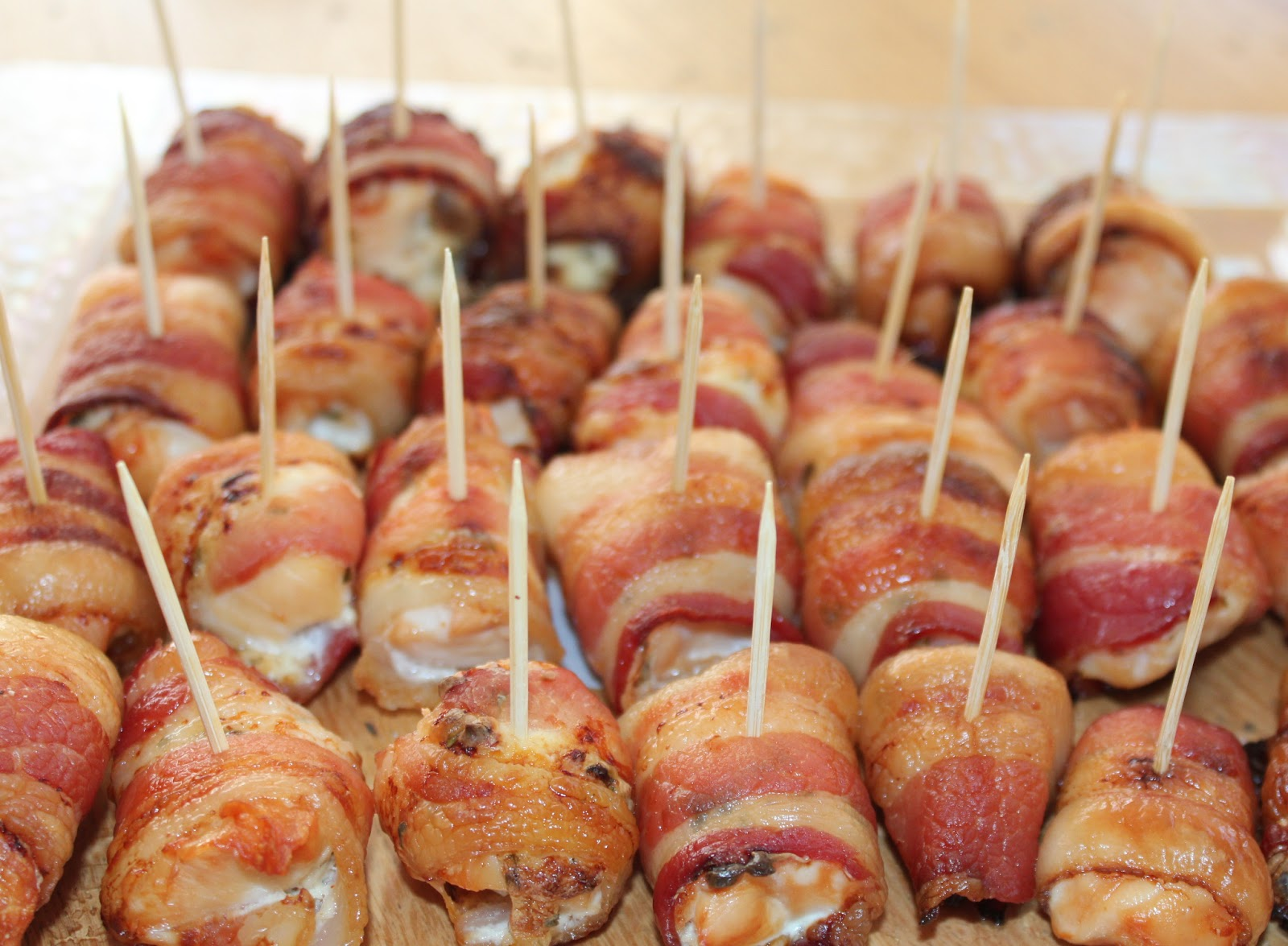 Bacon Wrapped Chicken Bites - Food I Make My Soldier