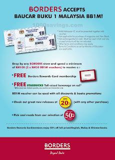 BORDERS accepts Baucar Buku 1Malaysia BB1M and rewards membership ...