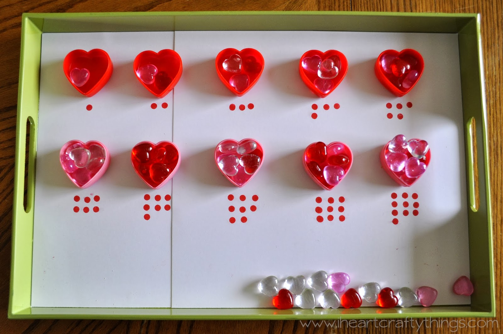 Valentine S Day Activity Trays Fine Motor Numbers Counting
