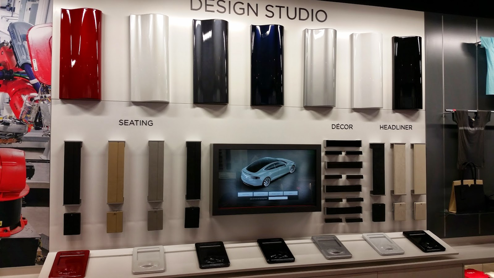 Tesla design studio at Natick Mall