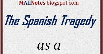 spanish tragedy as a revenge tragedy