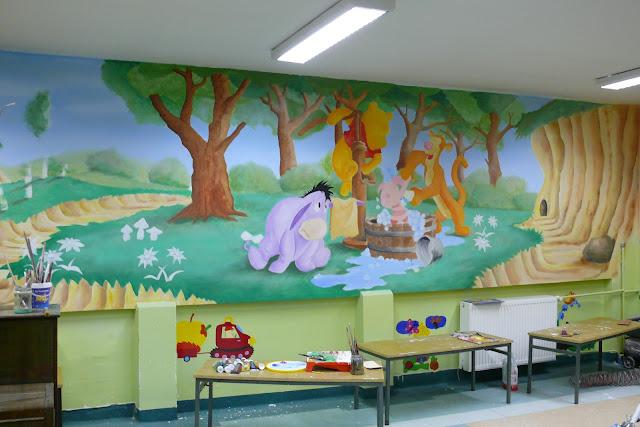 Bydgoszcz, artystyczne malowanie przedszkola, aranżacja ściany w przedszkolu, malowanie bajki na ścianie, mural 3D