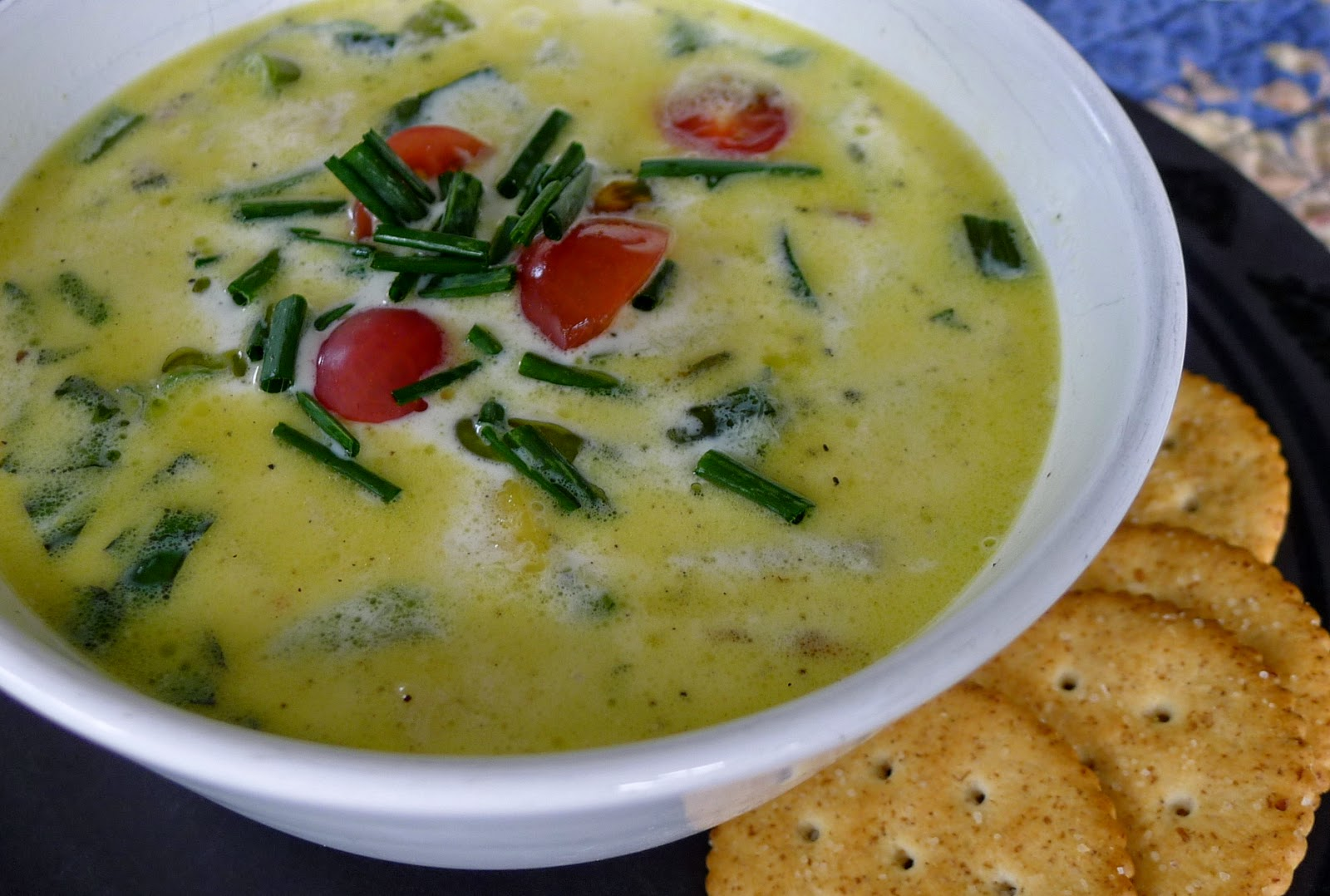 Vegetable Chowda, zucchini recipe