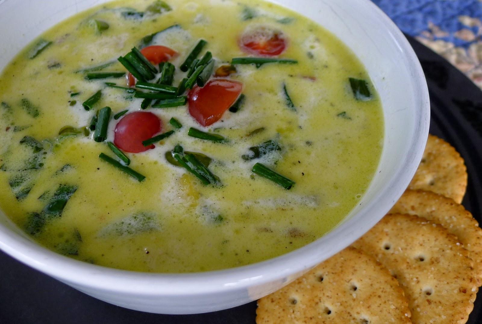 Vegetable Chowda, zucchini recipe
