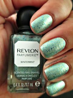 revlon parfumerie, wintermint, scented, nail polish, swatch