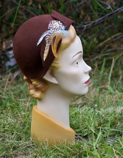 Tanith Rowan Designs vintage style felt hat