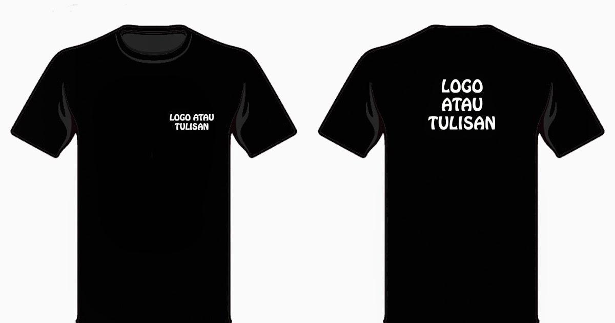 Begbaju Printing T Shirt Kosong Hitam Putih