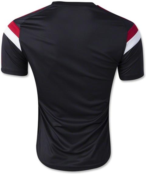 Baju Bola Training AC Milan Hitam 2015
