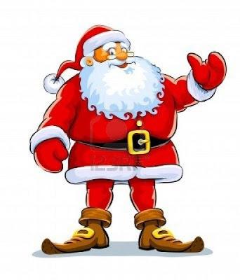 Santa en dibujo