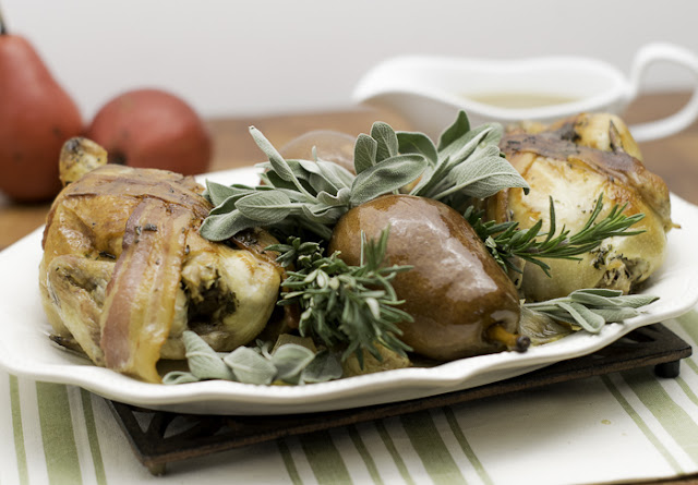 Tyson Cornish Hens with Bacon, Sage and Rosemary