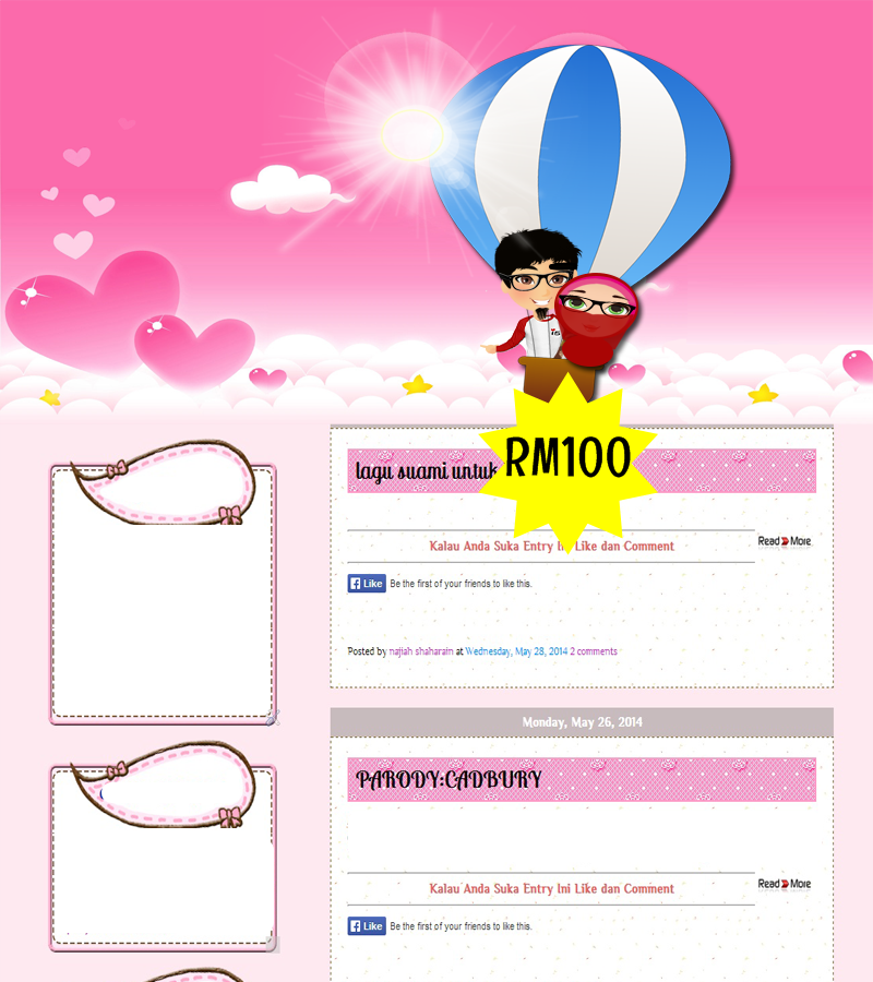 premade custom design Template blog dijual
