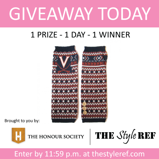 The Honour Society Arm Warmers Giveaway