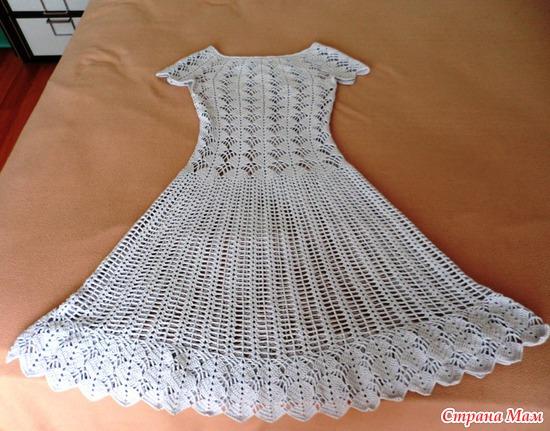 Вяжем платье по мотивам платья кайли миноуг 63