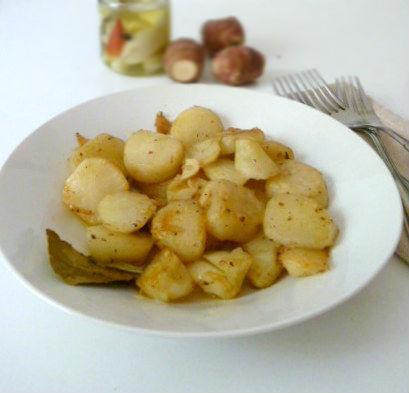 topinambur all'aglio