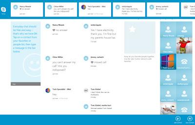 App Bar de Skype en Windows 8