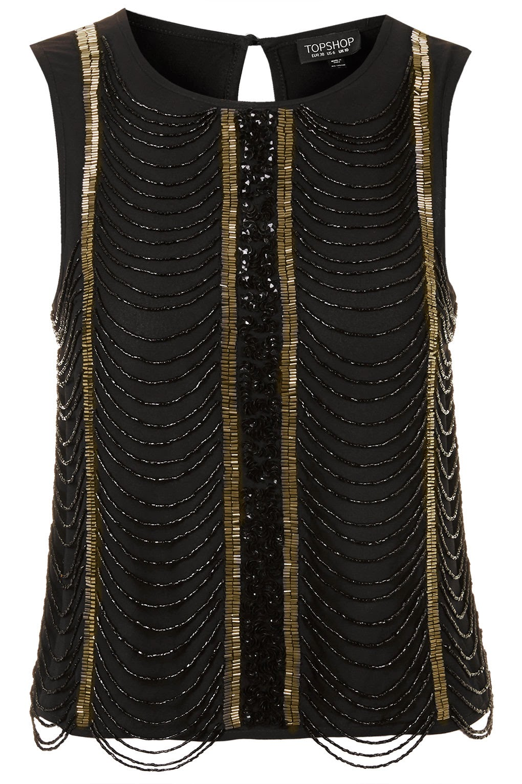 black and gold top