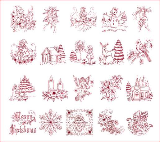 xmas embroidery designs