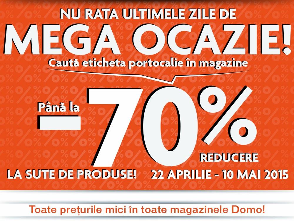 DOMO MEGA OCAZIE pana la 70% Reducere 22/4 - 10/5
