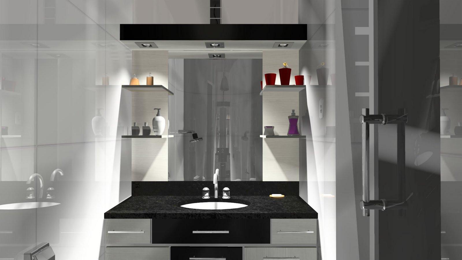 Espaço Nobre Design: Balcão de Banheiro (Preto Malago Ciliégio  #5E305C 1600x900 Banheiro Com Balcao