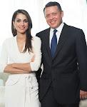 الملك عبدالله الثاني بن الحسين والملكة رانيا العبدالله