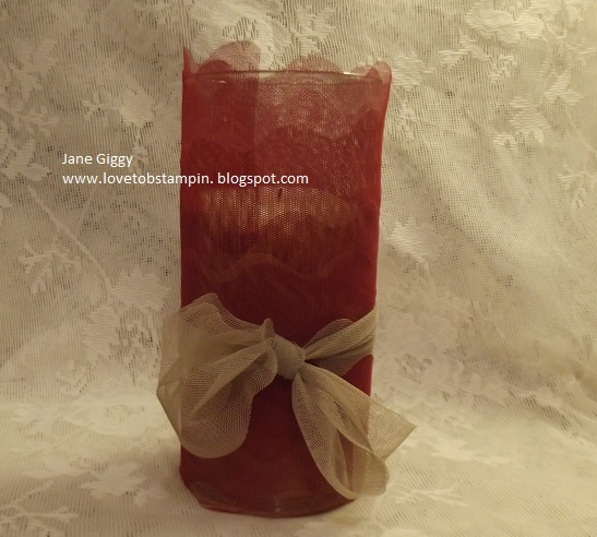 Loveto Be Stampin Dollar Store Glass Vase All Dressed Up