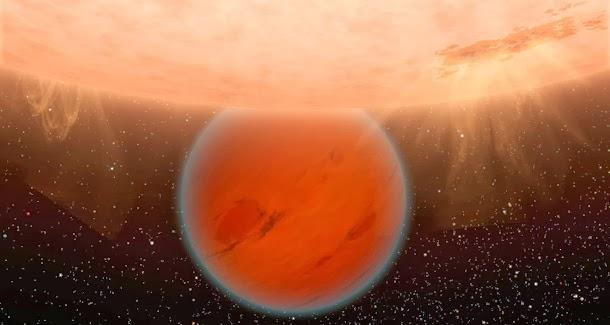 Gliese 436 b está revestido por gelo quente
