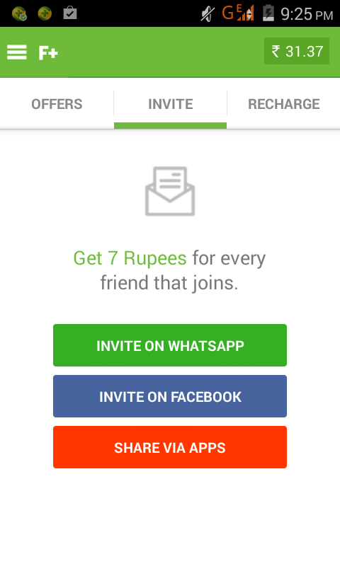 Now Earn Rs 7 / invite from Free Plus android App