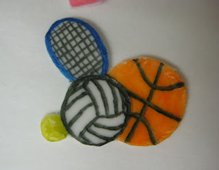 Teacher Appreciation School Subject Themed Cupcakes - Close Up of Sports Fondant Topper