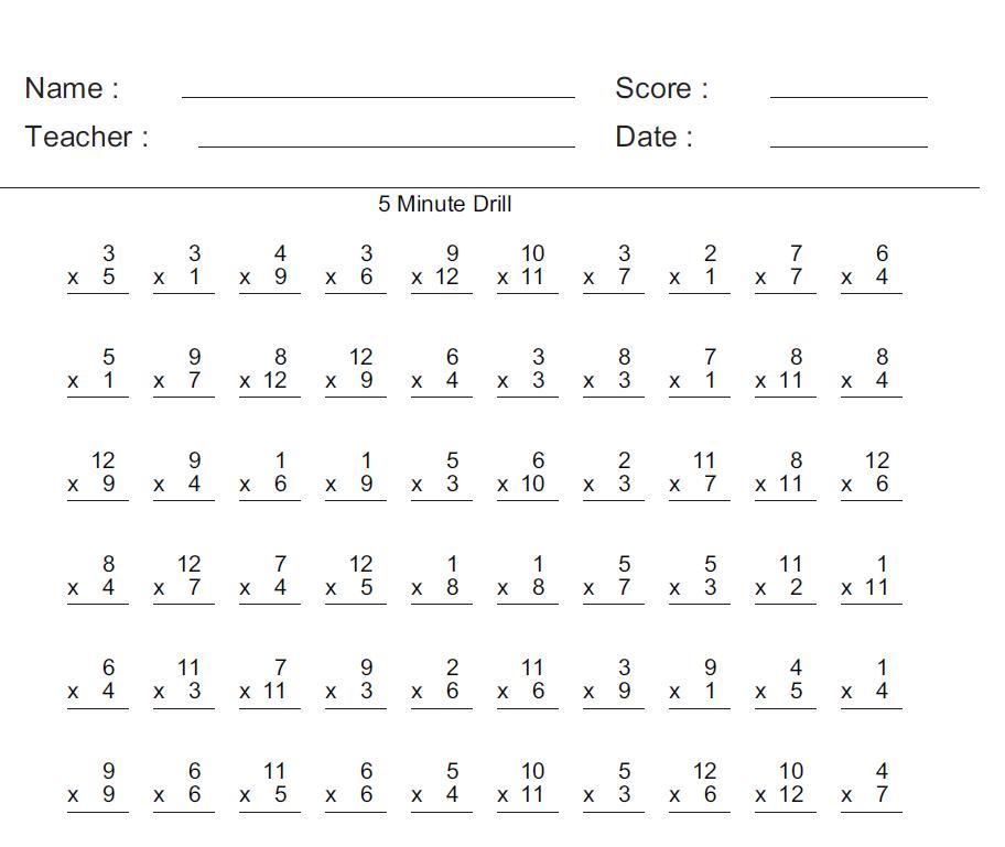 math worksheet : math aids worksheet  educational math activities : Mad Math Minutes Worksheets