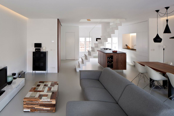Ejemplo de Loft elegante y minimalista reformado en Amsterdam