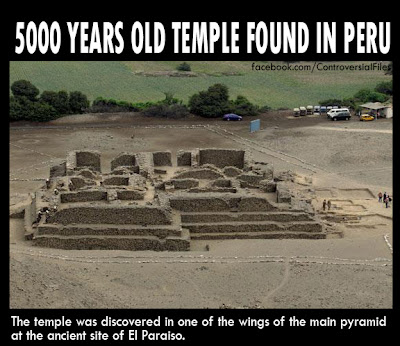 5000 years old Temple in Peru