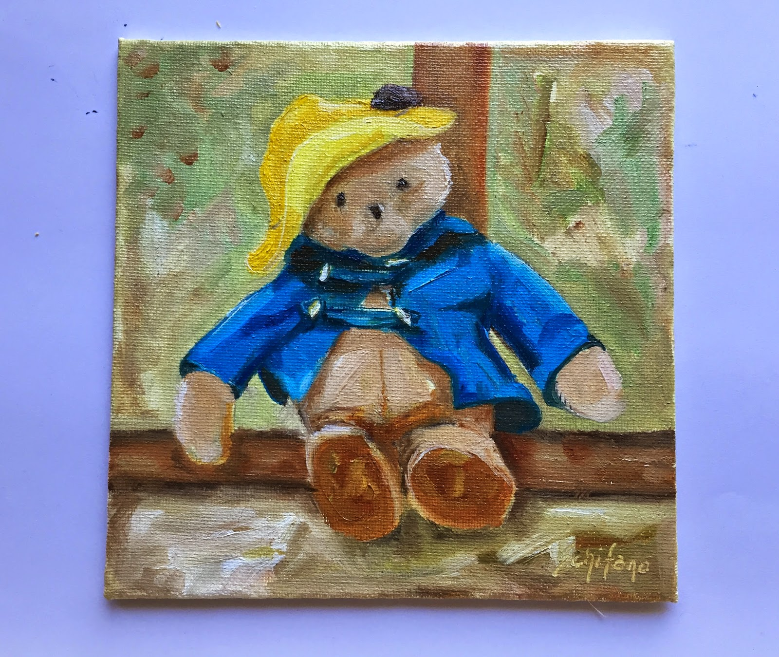 Schifano, childrens picture, Paddington jacket