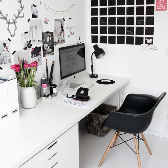 The Monochromatic home office