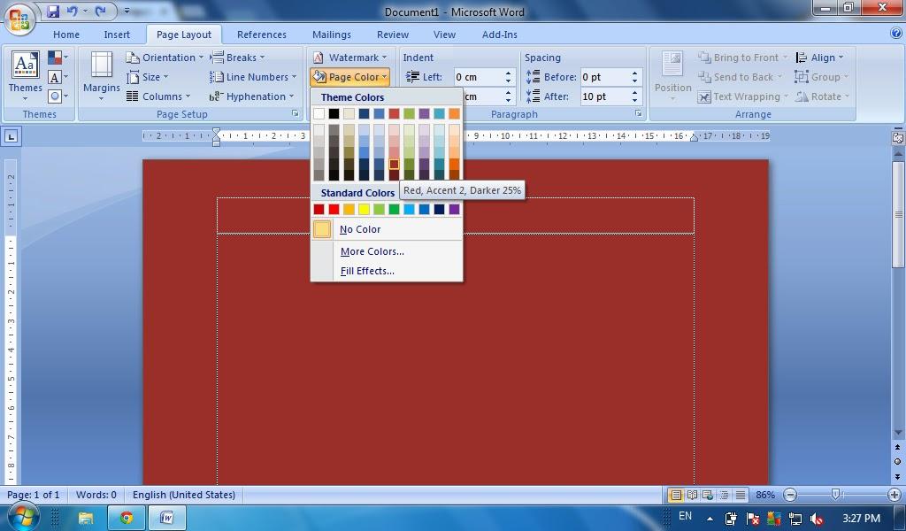 Cara Memberi Warna Halaman Page Color Pada Ms Word