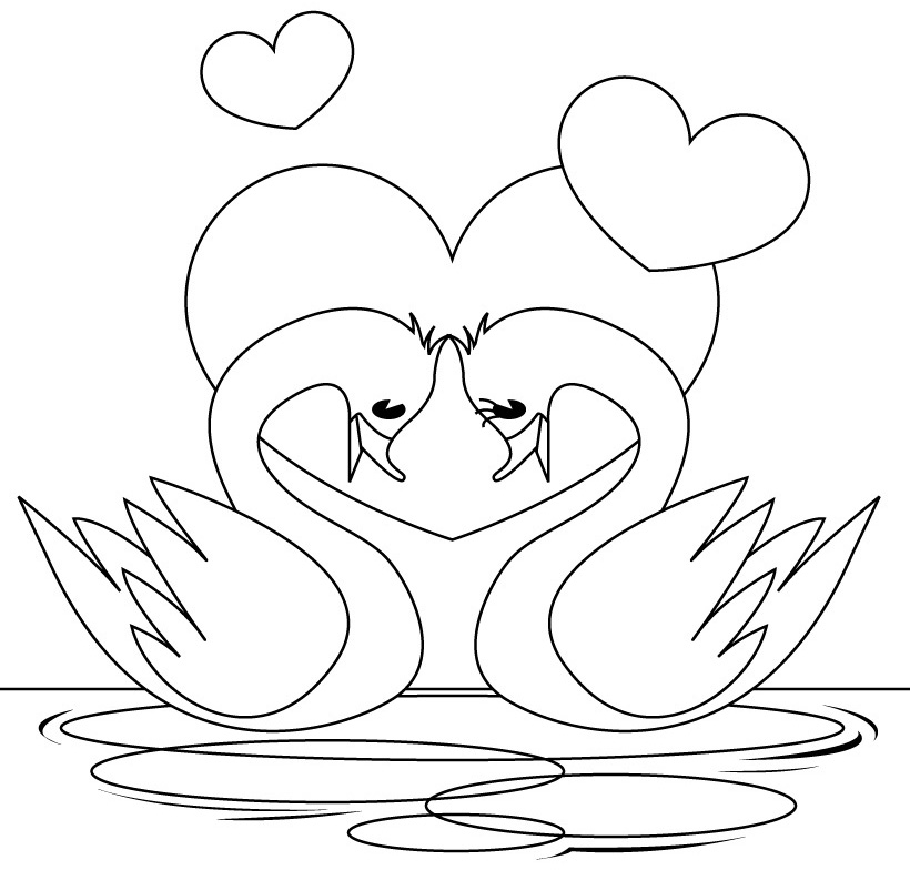 free swan coloring pages - photo#9