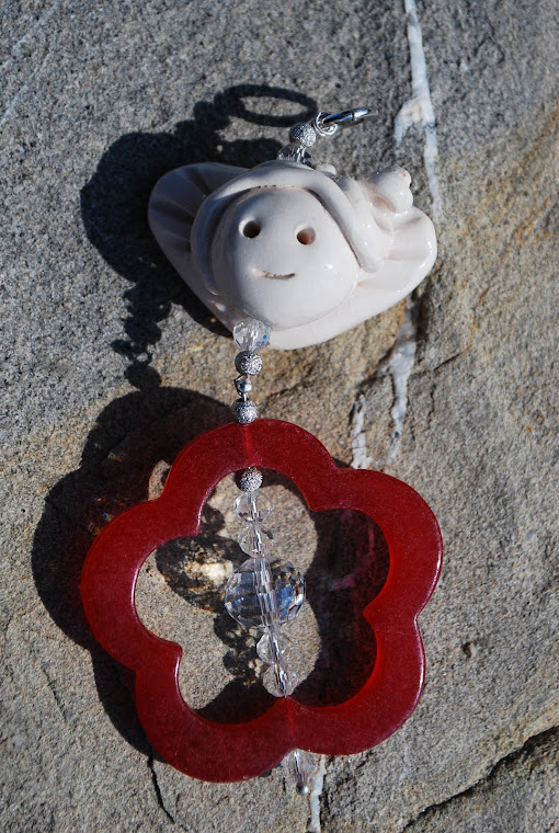 ciondolo,corniola argento ceramica
