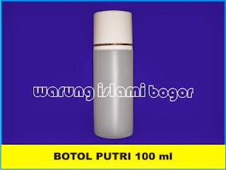 Jual Botol Putri Ukuran 100 ml Untuk Lotion dan Kosmetik Bentuk Oval Warna White Light