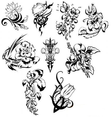 the above are a handful of flower tattoo ideas and