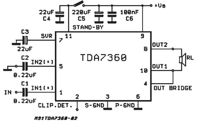amplifiercircuits com  tda7360