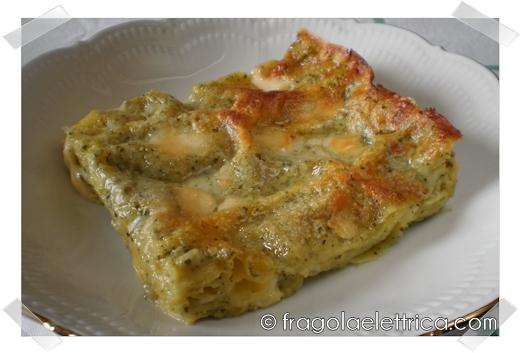 Lasagne con Pesto, Besciamella e Scamorza