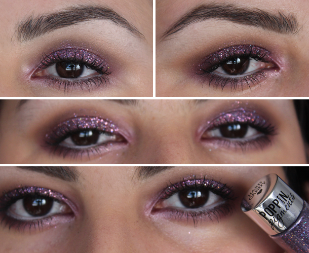 hard candy poppin pigments glitter makeup look drugstore mac fig 1 coastal scents vintage burgundy smokey eye purple