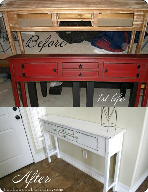 table redo for $12 - holla! + my best tips on how to spray paint